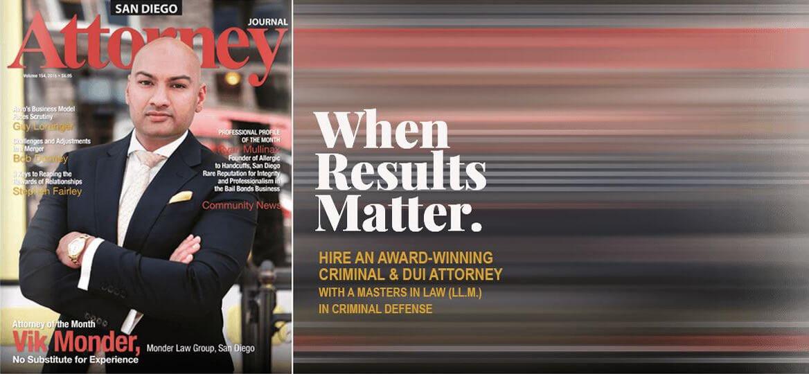 San Diego Criminal Attorney Vik Monder